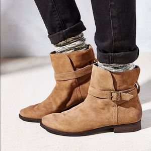Sam Edelman Booties Size 8M Suede Tan Boots Malone